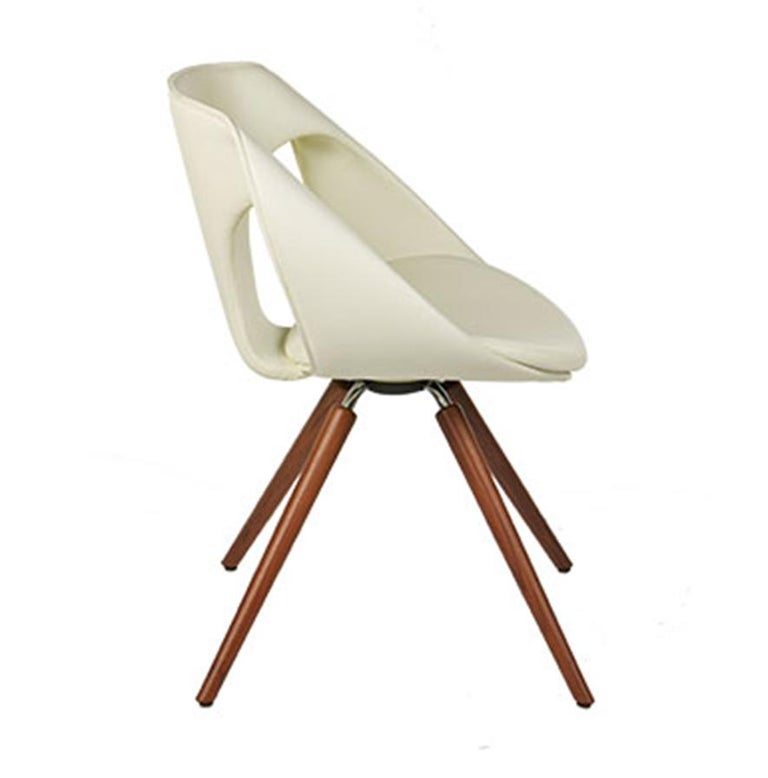 UP Upholstered Leather Dining Room Chair, Contemporary, Modern Italian Design For Sale 11
