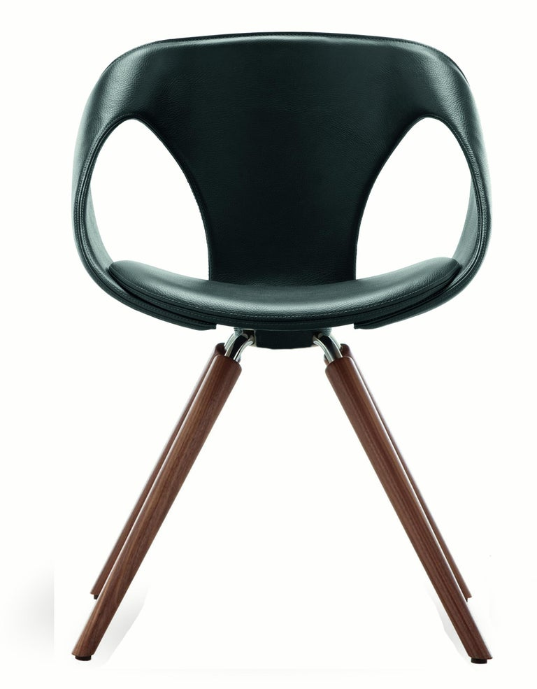 UP Upholstered Leather Dining Room Chair, Contemporary, Modern Italian Design For Sale 3