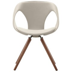 UP Upholstered Leather Dining Room Chair, Contemporary, Modern Italian Design