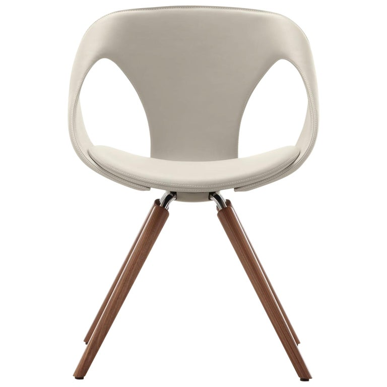 UP Upholstered Leather Dining Room Chair, Contemporary, Modern Italian Design For Sale