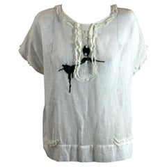 Upcycled Embroidered 1920's Batiste blouse, Studio VL