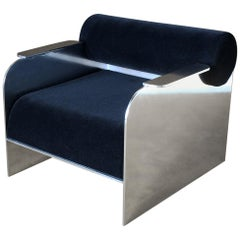Upholstered Aluminum Indoor/Outdoor June Lounge Chair by Crump & Kwash
