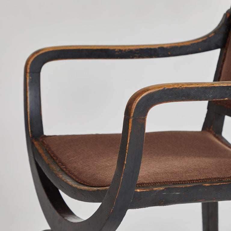 Upholstered Arm Chair For Sale at 1stdibs