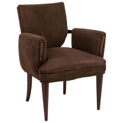 Upholstered Armchair Attributed to Paul Laszlo for Brown Saltman
