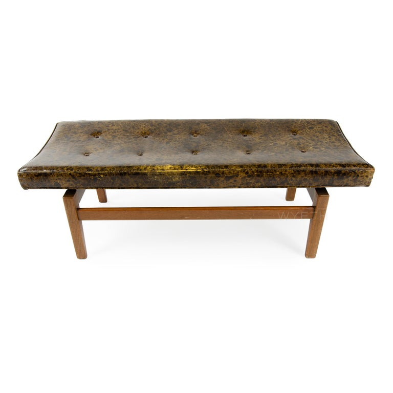 Mid-20th Century Upholstered Bench For Sale
