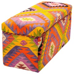 Upholstered Bench or Pouf