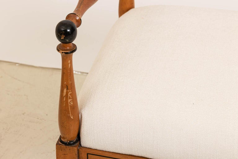 Mid-20th Century Upholstered Biedermeier Style Bench For Sale