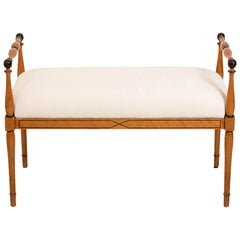 Upholstered Biedermeier Style Bench