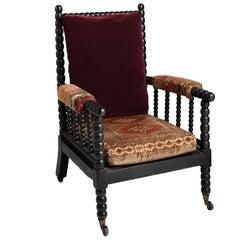 Upholstered Bobbin Armchair