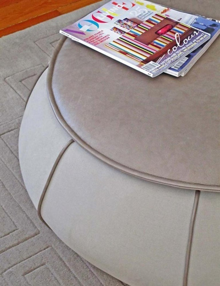 Upholstered Center Table Eli Grey 4