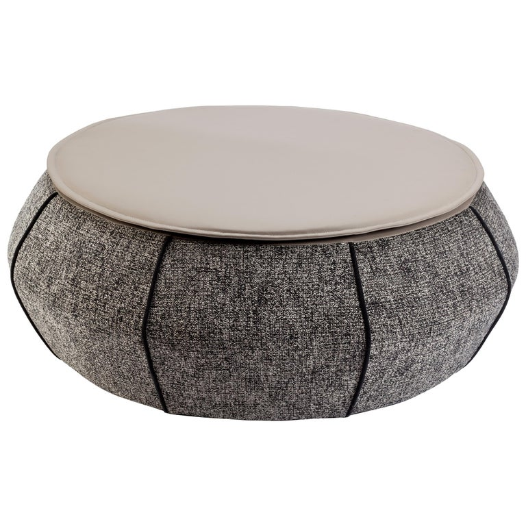 Upholstered Center Table Eli Grey 1