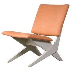 Upholstered Chair on Sculptural Plywood Bae by Peter van Grunsven, 1958