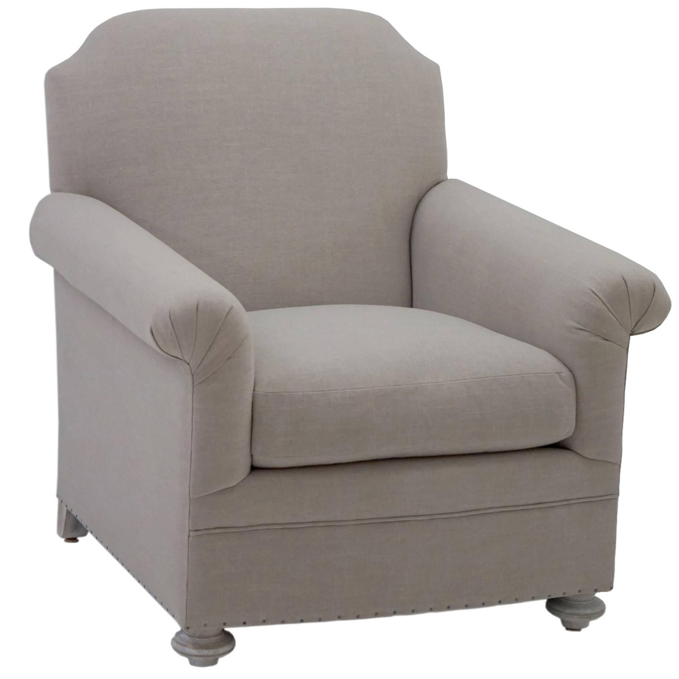 Upholstered Club Chair, Customizable