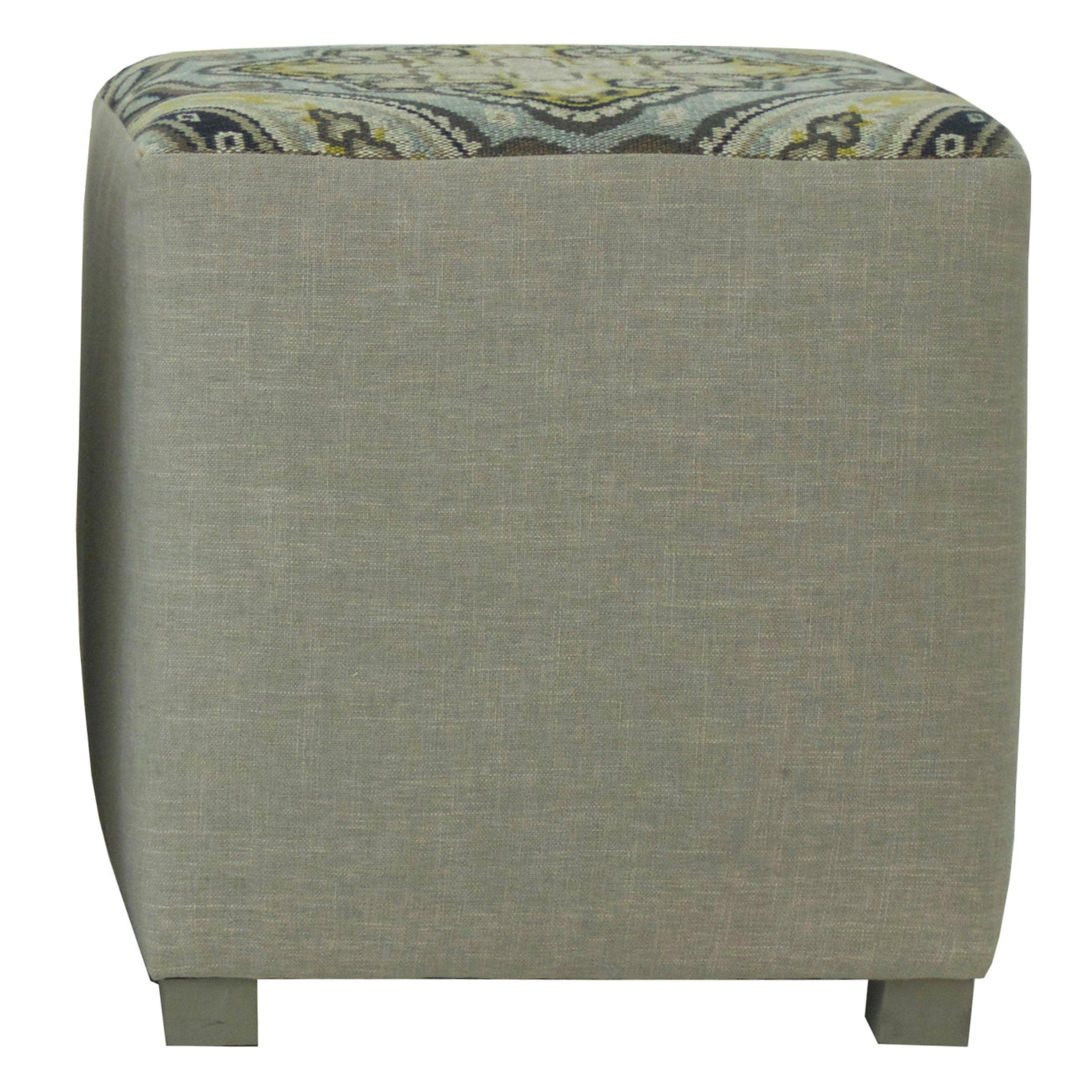 Upholstered Cube Ottoman