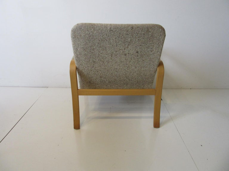 Upholstered Danish Styled Birch Lounge Chair by DUX of Sweden In Good Condition For Sale In Cincinnati, OH