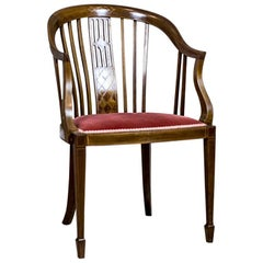 Upholstered Desk Chair in the Sheraton Type