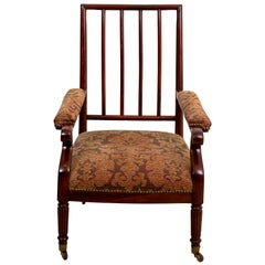 Upholstered English Style Library Chair