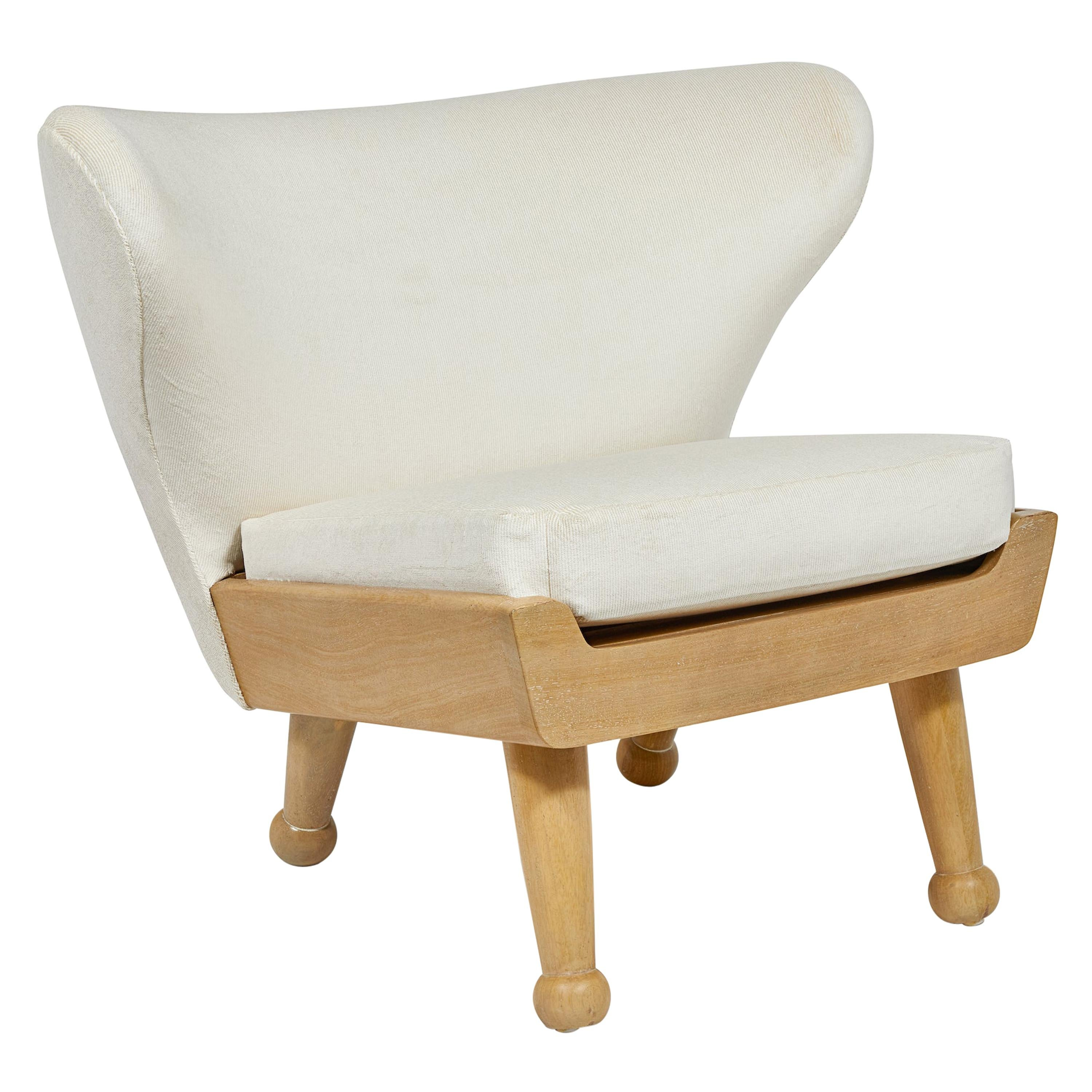 Bleach Teak Outdoor Upholstered Hayworth Lounge Chair by August Abode