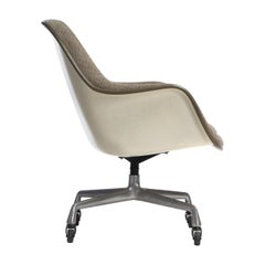 Upholstered High Back Shell Chair by Charles Eames for Herman Miller