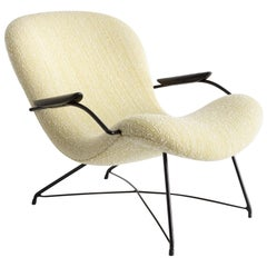 Upholstered Lounge Chair by Carlo Hauner and Martin Eisler, 1950s