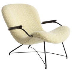 Upholstered Lounge Chair by Carlo Hauner and Martin Eisler