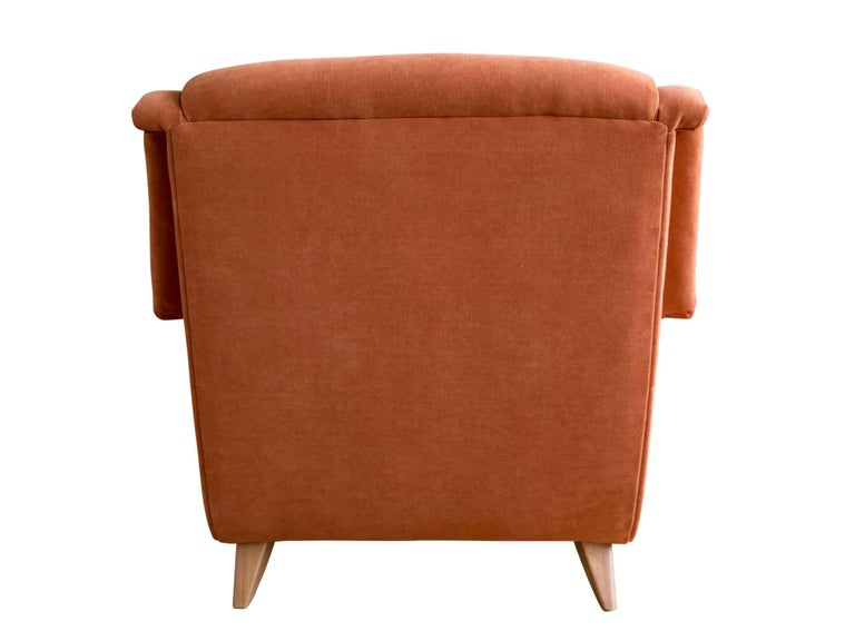American Upholstered Lounge Chair by Heywood Wakefield For Sale