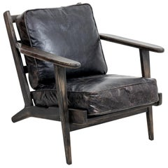 Upholstered Mid-Century Modern Style Armchair