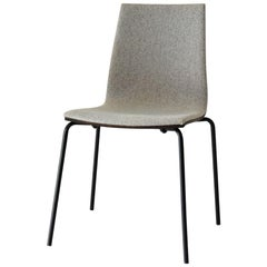 Upholstered Oak Wallace Chair by Hollis & Morris
