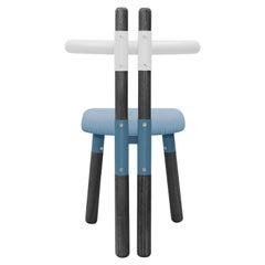 Upholstered PK12 Chair, Bicolor Steel Structure & Ebonized Legs by Paulo Kobylka