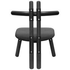 Upholstered PK13 Armchair, Steel Structure & Ebonized Wood Legs by Paulo Kobylka