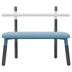 Upholstered PK14 Double Chair, Bicolor Structure, Ebonized Legs by Paulo Kobylka