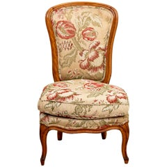 Upholstered Slipper Chair with Quilted Fabric