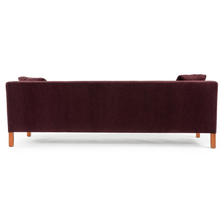 Mid-20th Century Upholstered Square Arm Sofa by Edward Wormley for Dunbar For Sale