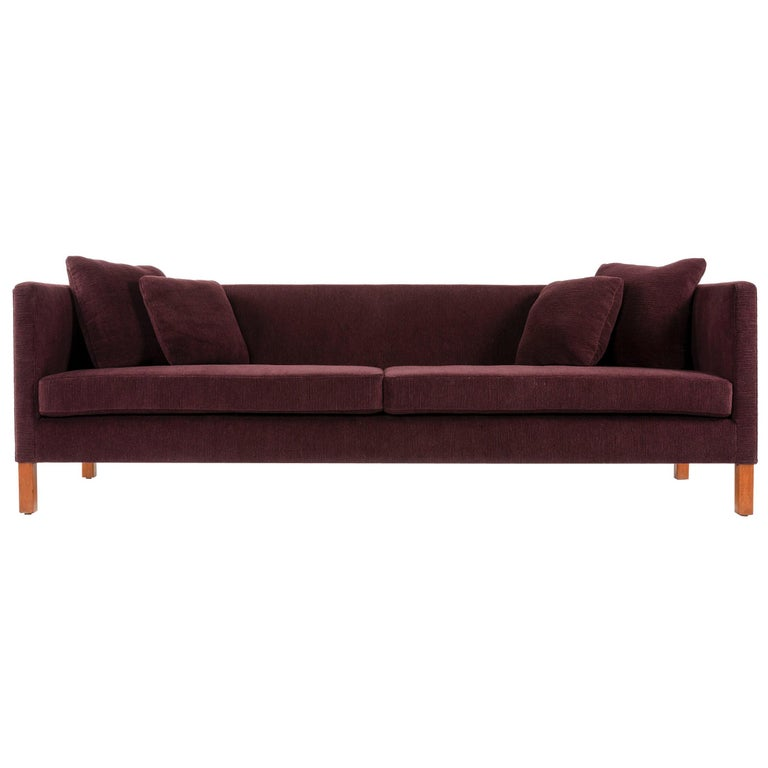 Upholstered Square Arm Sofa by Edward Wormley for Dunbar For Sale