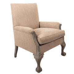 Upholstered Victorian Armchair, circa 1850s