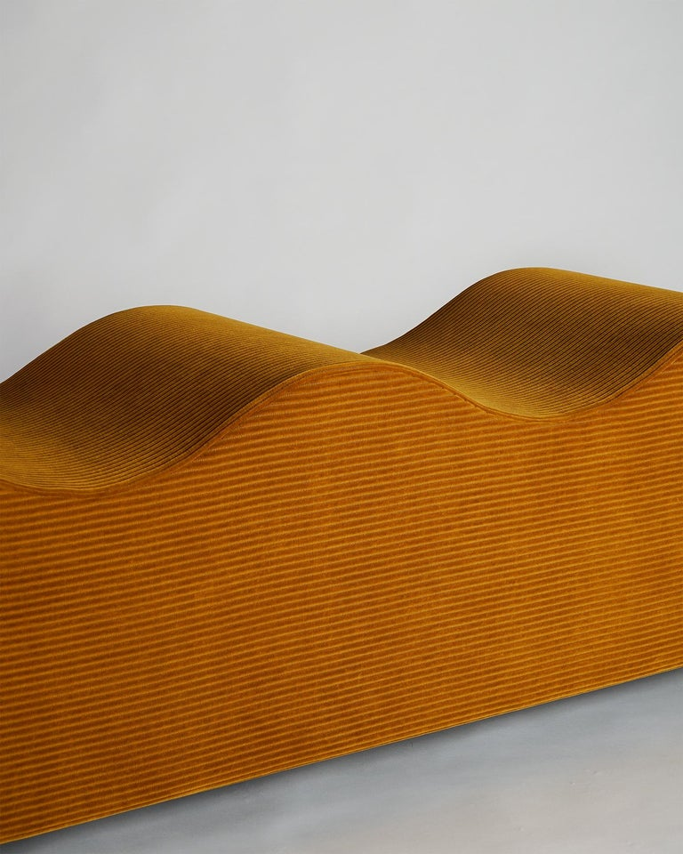 "Sculptural yet comfortable, the wave bench by Los Angeles, based design studio Objects for Objects plays with ideas about how we interact with our furniture and how our furniture interacts with our spaces. The wave bench measure 18.5"" deep x 72"""