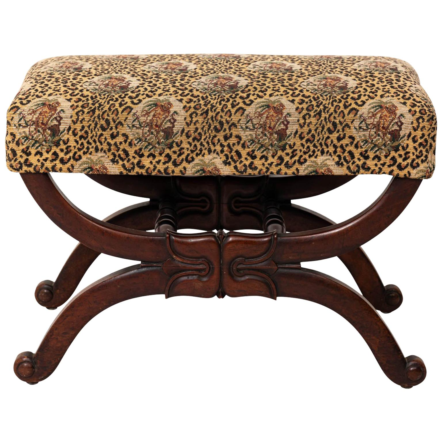 Upholstered William IV Style Bench
