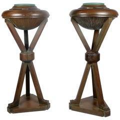 Uplights, Bronze, 1920s-1930s