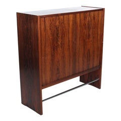 Upright Bar in Rosewood with Formica Top and Original Interior, 1960´s, Vintage