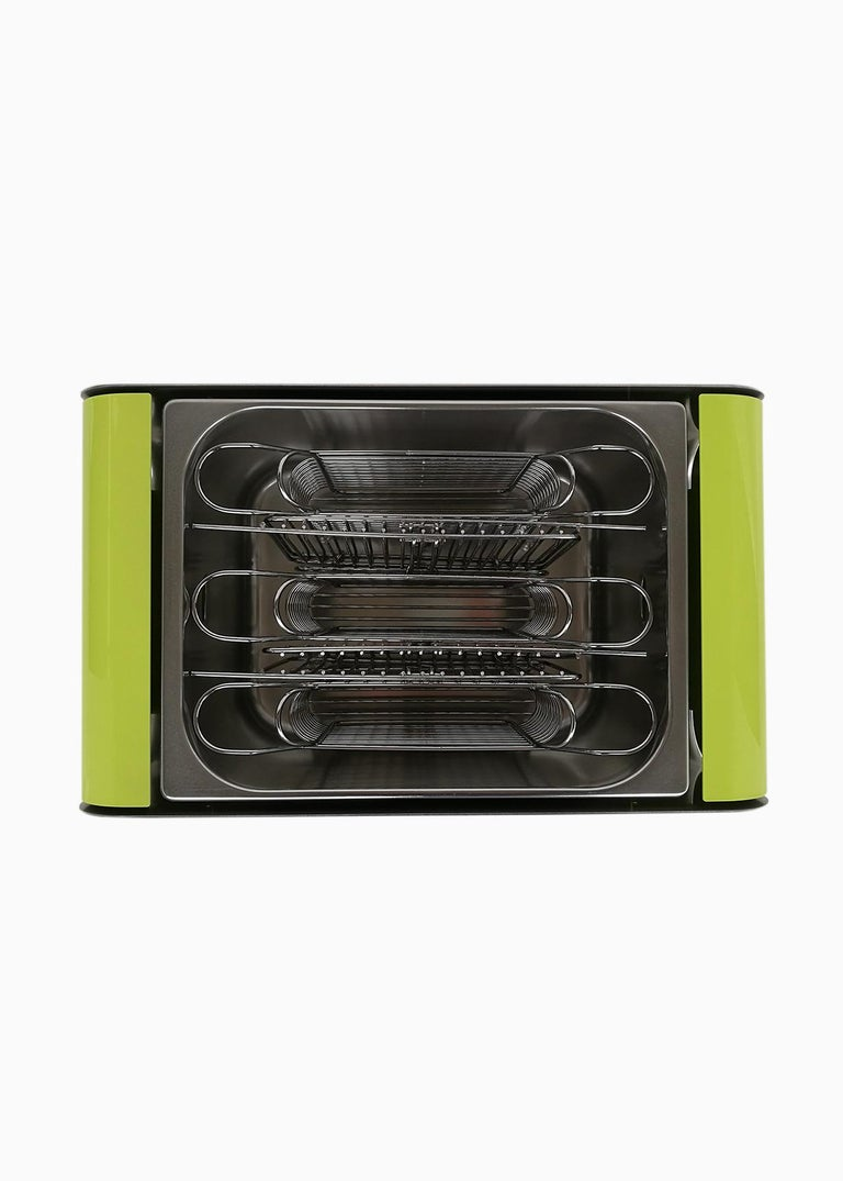 Modern Upright Cooking Charcoal Barbecue, Grill Green For Sale
