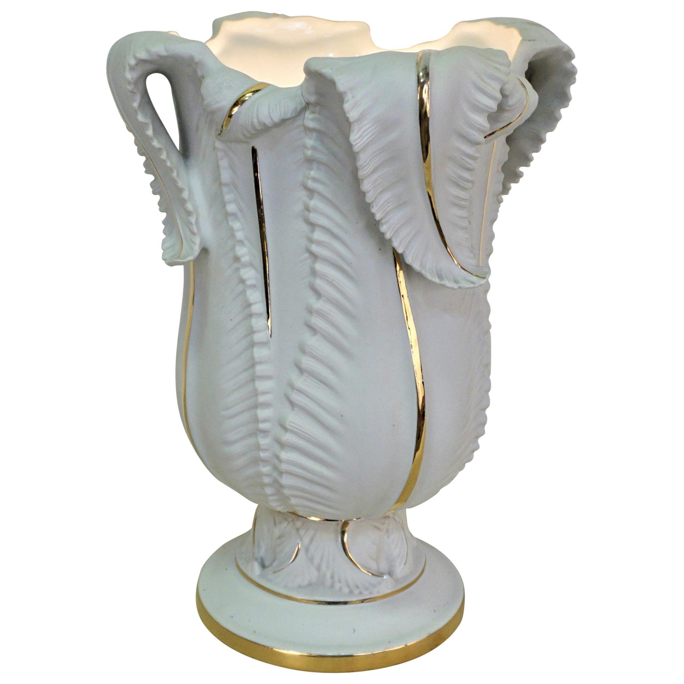 Upright Table Lamp Limoges Porcelain