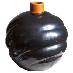 Upsala-Ekeby, Large Organic Vase, Glazed Stoneware, Sweden, 1930s