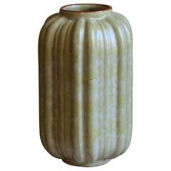 Upsala-Ekeby, Sizable Vase, Glazed Stoneware, Sweden, 1930s