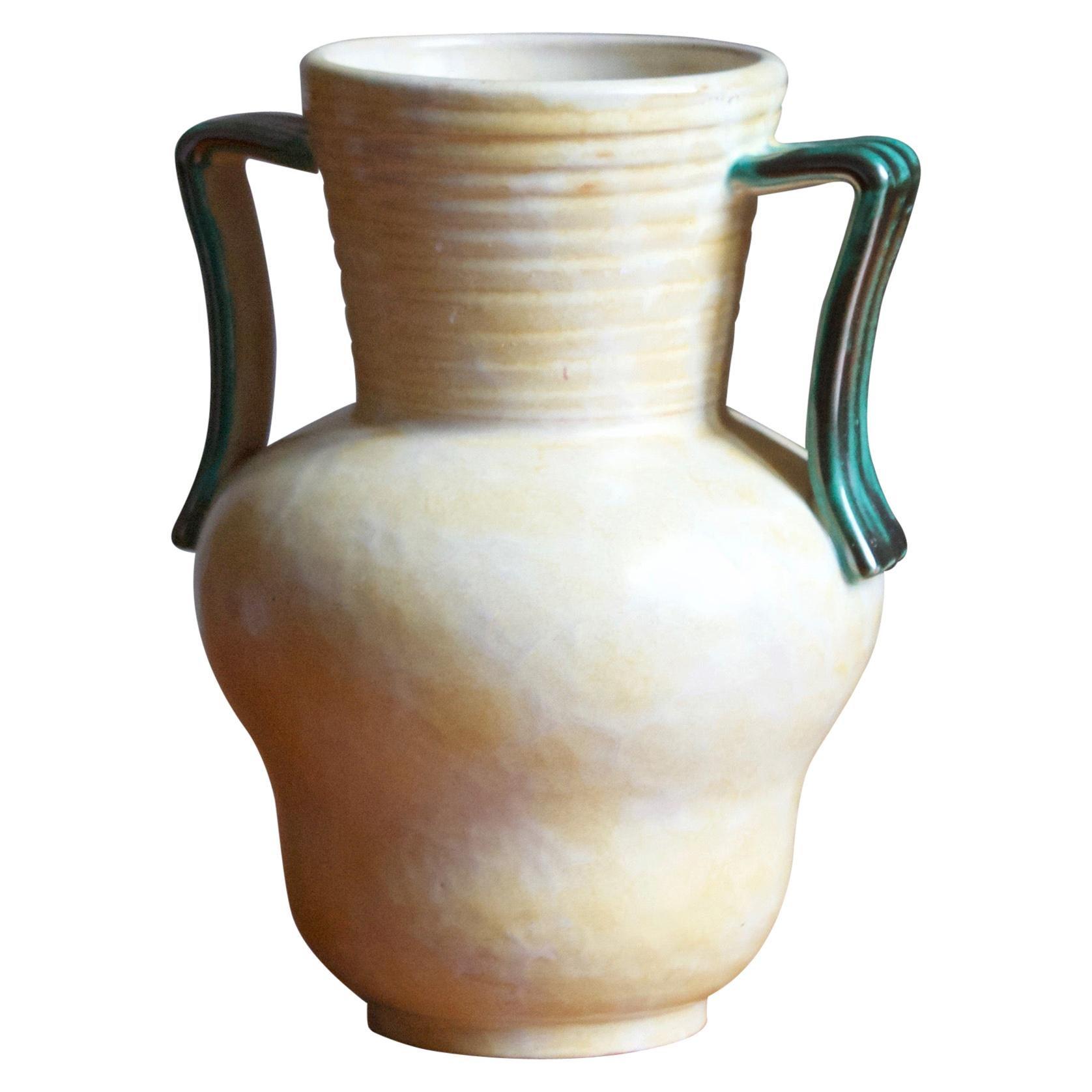 Upsala-Ekeby, Small Vase, Glazed Earthenware, Sweden, 1930s