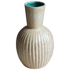 Upsala-Ekeby, Small Vase, Glazed Stoneware, Sweden, 1940s
