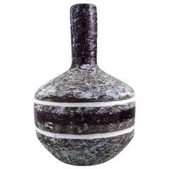 Upsala-Ekeby, Sweden, Vase with Narrow Neck in Glazed Ceramics, 1960s