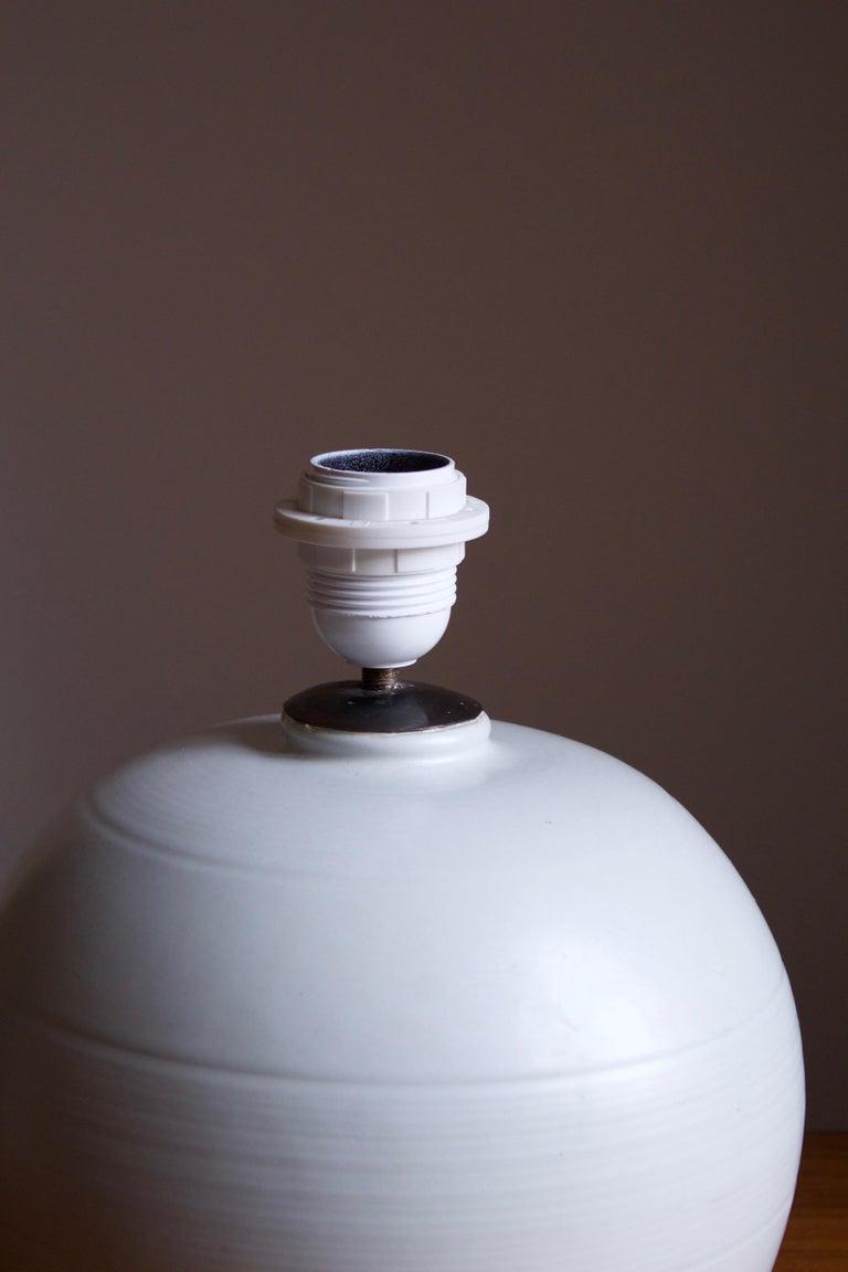 Swedish Upsala-Ekeby, Table Lamp, Glazed Earthenware, Sweden, 1930s For Sale