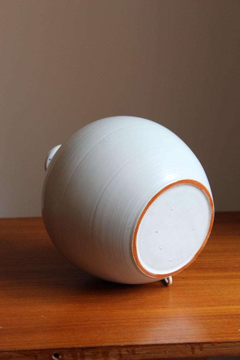Mid-20th Century Upsala-Ekeby, Table Lamp, Glazed Earthenware, Sweden, 1930s For Sale