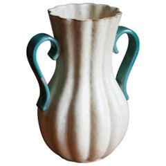 Upsala-Ekeby, Vase, Glazed / Painted Stoneware, Sweden, 1930s