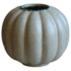 Upsala-Ekeby, Vase, Glazed Stoneware, Sweden, 1930s